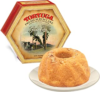 TORTUGA Caribbean Flor de Cana Rum Cake w/walnuts- 16 oz Rum Cake - The Perfect Premium Gourmet Gift for Gift Baskets, Parties, Holidays, Birthdays and make an Excellent Father's Day Gift