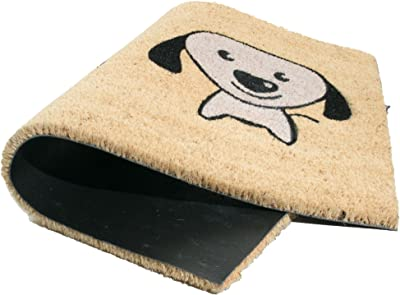 """Imports Decor I Love Puppy Vinyl Backed Coir Doormat, 30 by 18 by 1/2"""""""