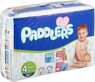 Paddlers Maxi 4 Beden 144 Adet (8-19 Kg) Aylık Paket Bebek Bezi, Beyaz