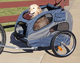 PetSafe Solvit HoundAbout Pet Bicycle Trailer For Dogs and Cats, Steel Frame, Medium and Large