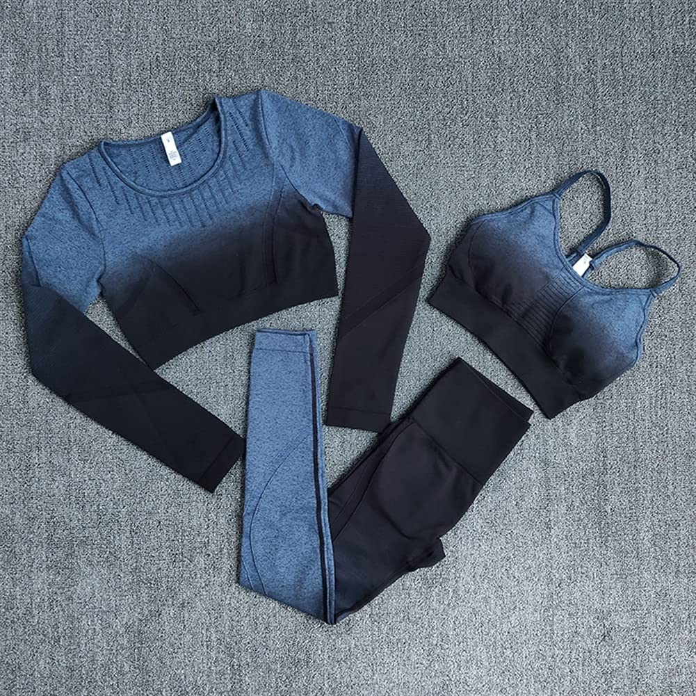 Cheap super special price Indianapolis Mall HBYXGS Yoga Set Women Gradient Workout Long Sports Bra Se Sleeve