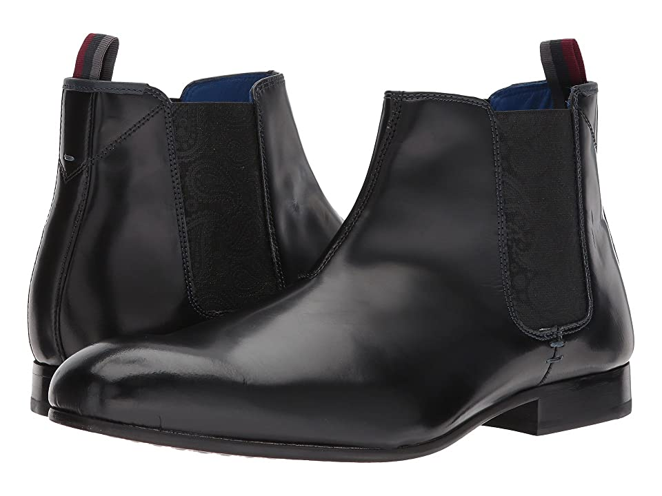Ted Baker Auldham (Black Leather High Shine) Men