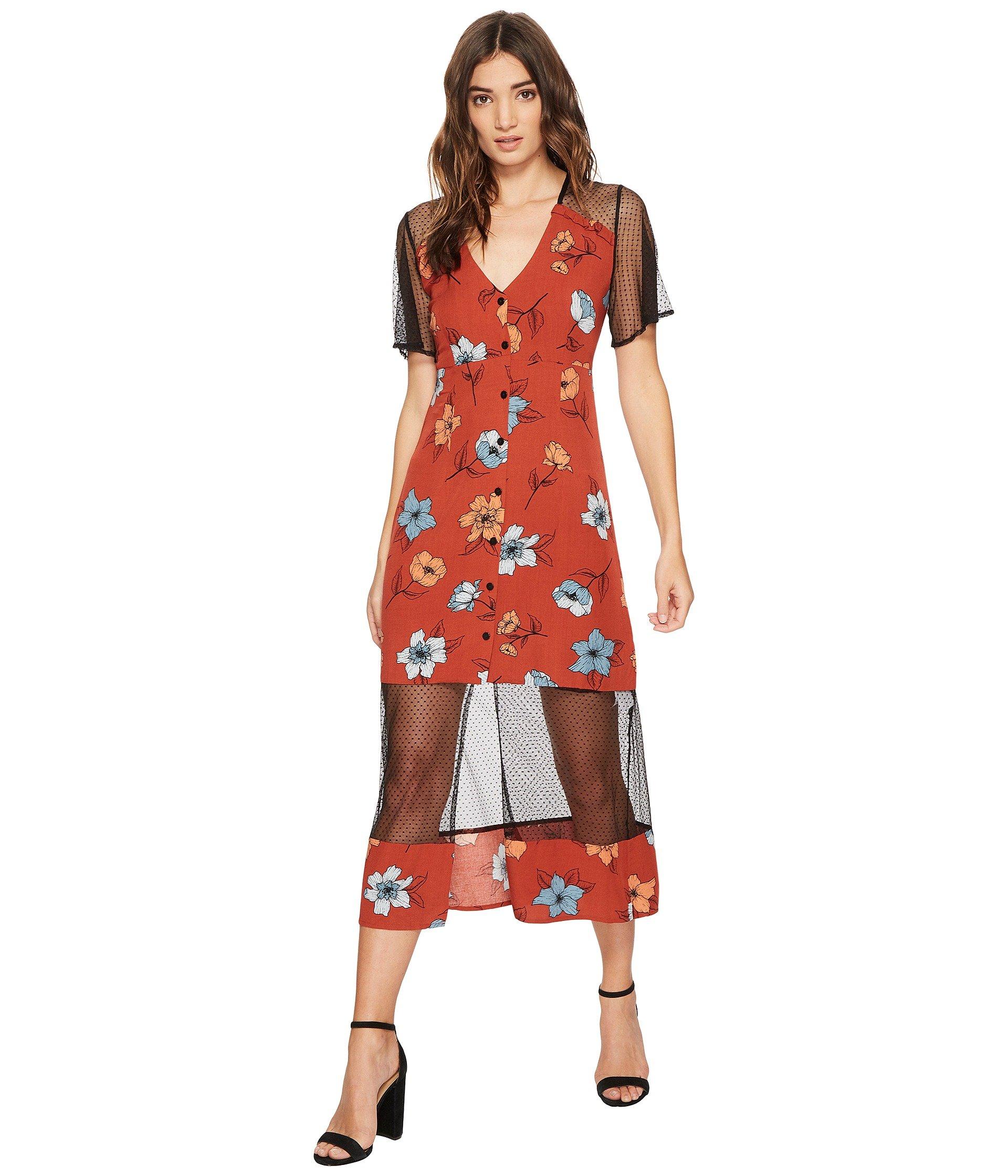 Minkpink Ornate Midi Dress