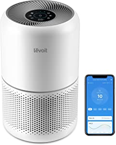 LEVOIT Air Purifier for Home Bedroom, H13 True HEPA Filter for Dust, Allergies, Pets, Smoke, Smart Wifi, Alexa, Google Control, Air Cleaners for Large Room Office, Core 300S, Quiet Auto Mode, 22dB