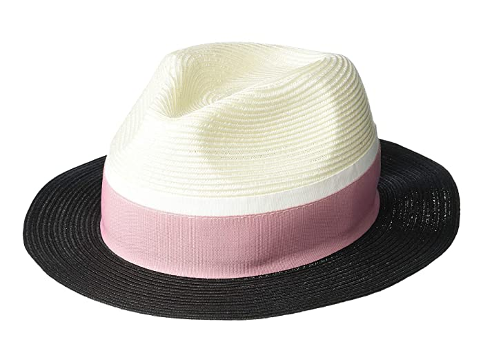 1a0e8b10 Calvin Klein Panama Hat with Pop Color Band at Zappos.com