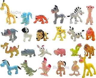 SaleOn 24 pc Tiny Size Wildlife Model Children Puzzle Early Education Gift Mini Jungle Animal Toy Set Realistic Animal Fig...