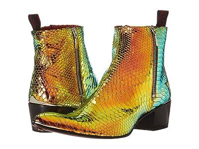 Jeffery-West Double Metal Zip Boot Sylvian (Petrol) Men