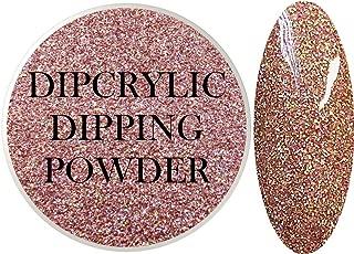 SHEBA NAILS Dipcrylic Glitter Dip Dipping Powder SPARKLING ROSE GOLD - 1oz Jar