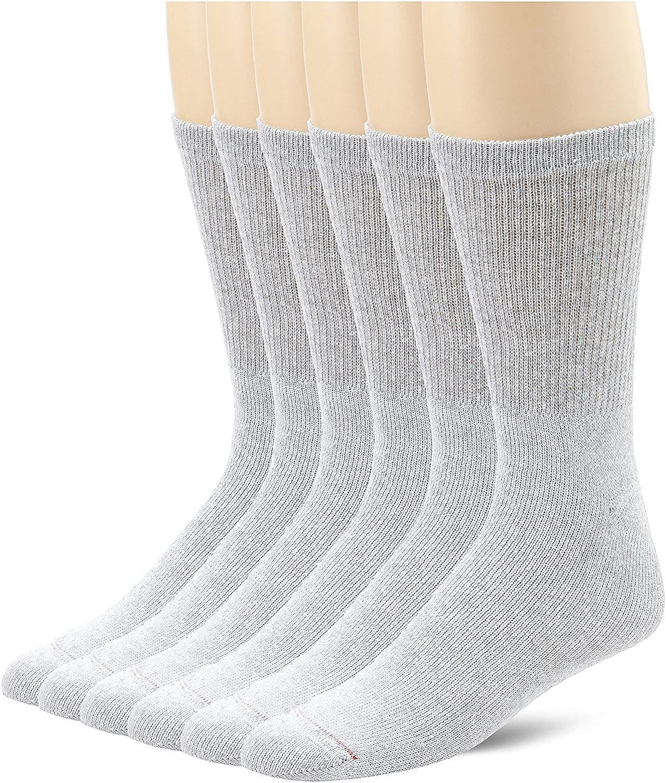 Grey Cushion Crew Socks (185/6)