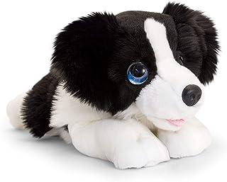 Keel Toys Cachorro de peluche (47 cm), color negro/blanco, talla única (SD2523) , color/modelo surtido