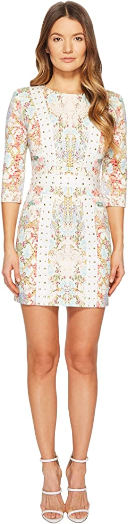 Pierre Balmain Studded Floral Dress