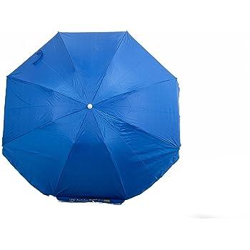 Arcoiris Ombrellone da spiaggia con borsa termica regalo in acciaio 220 cm, blu