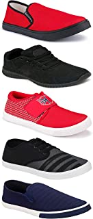 WORLD WEAR FOOTWEAR Sports Running Shoes/Casual/Sneakers/Loafers Shoes for MenMulticolors (Combo-(5)-1219-1221-1140-725-1017)