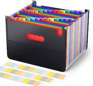 Trieur Accordéon A4 26Pochettes avec conception de sac en filet Papier Rangement - ABClife Trieur Valisette Rangement docu...