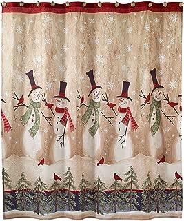 Avanti Linens Tall Snowmen Shower Curtain - Ivory