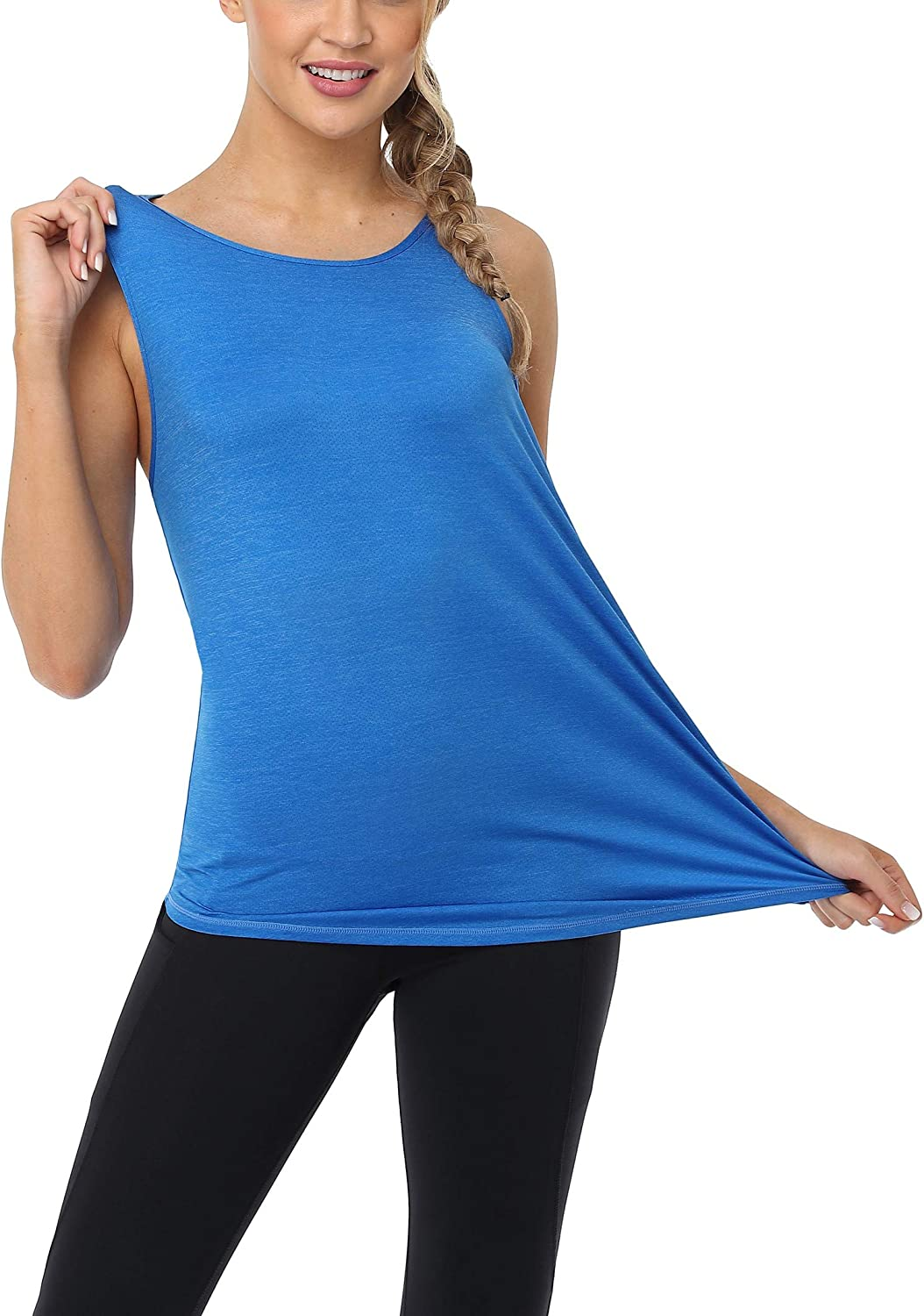 ATTRACO Workout Tank Tops for Women Fitness Muscle Tank Open Back Sports Shirts