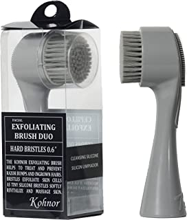 Kohnor Kode Hard Bristles - Exfoliating Brush to Treat and Prevent Razor Bumps and Ingrown Hairs. Eliminate Shaving Irritation for Face, Neck, Armpit, Legs and Bikini Line. For Men and Women