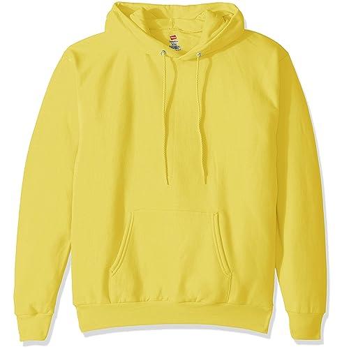 Big Hit Men Hoodies Sweatshirts Oversized Basic Hoodies,Yellow,XXL