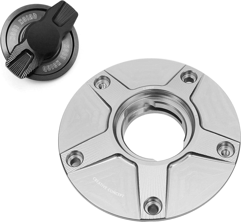NIMBLE Black CNC 1//4 Quick Lock Fuel Cap For Kawasaki Concours 14 2011-2012