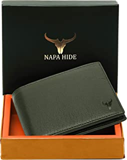 Napa Hide RFID Protected Genuine High Quality Leather Wallet for Men (Green)