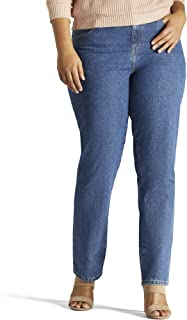Women's Plus-Size Relaxed Fit All Cotton Straight Leg Jean