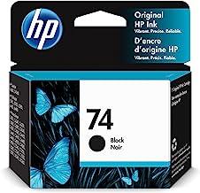 Original HP 74 Black Ink Cartridge | Works with HP DeskJet D4260, D4360; HP OfficeJet J5700, J6400; HP PhotoSmart C4200, C...