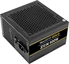 Antec NeoECO Gold Zen NE500G Zen Power Supply 500 Watts 80 Plus Gold Certified with 120 mm Silent Fan, LLC + DC to DC Design, Japanese Caps, 99%+12V Output, CircuitShield Protection