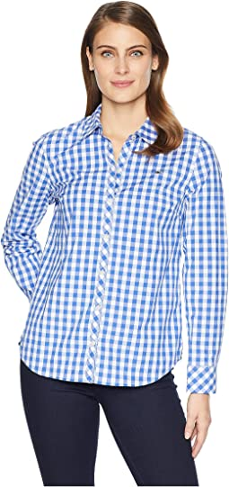 Mini Gingham Classic Button Down Shirt