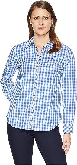 Mini Gingham Classic Button Down Shirt
