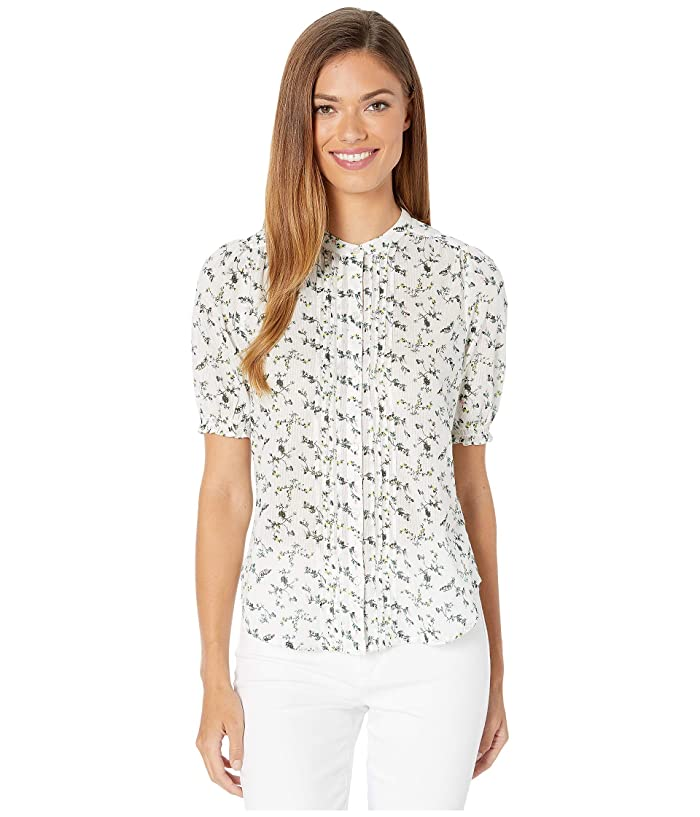 Lucky Brand  Dakota Ruffle Sleeve Top (Natural Multi) Womens Clothing