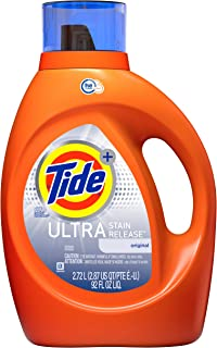 Tide Plus Ultra Stain Release HE Turbo Liquid Laundry Detergent, Original Scent, 2.72 L (48 Loads)