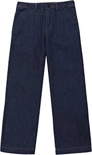 Tronjori Boys Denim Pants Adjustable Elastic Waistband