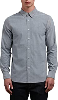 Volcom Men's Oxford Stretch Long Sleeve Button Up Shirt