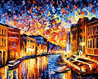 Paint by Numbers-DIY Digital Canvas Oil Painting Adults Kids Paint by Number Kits Home Decorations- Colorful World 16 * 20...