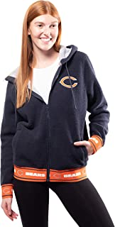 Ultra Game NFL Women's Full-Zip Sherpa Jersey Hoodie