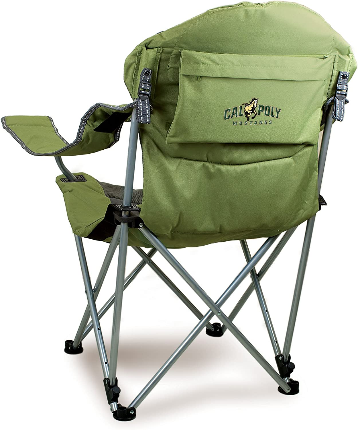 NCAA Cal Poly Digital Print Reclining Camp Chair, Sage, One Size