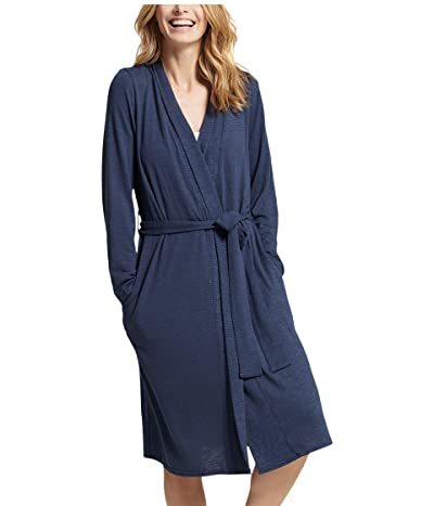 Yummie Plus Size Midi Robe (Mood Indigo) Women