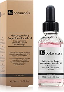 Dr Botanicals Vegan Moroccan Rose Superfood Facial Oil  with Vitamins, and Essential OIls - Natural Best Anti-ageing repairing Treatment for All skins - Instant Results - Made in UK - 30ml