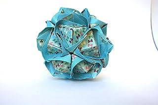 origami Clover Kusudama, 30 moduli verde con motivo di fiocchetti