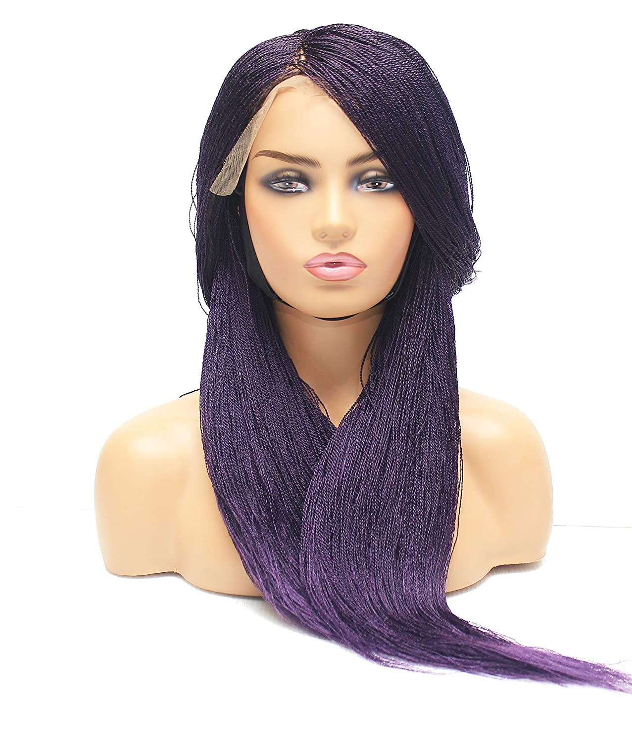 Micro braided wig- Braided wigs for Sacramento Mall women- gift black frontal wi lace