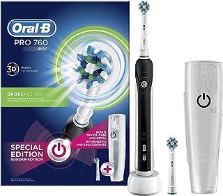 Braun Oral-B Pro 760 Elektrische tandenborstel met opzetborstel en reisetui, zwart