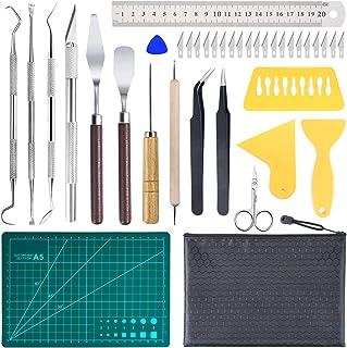 38 Pcs Precision Craft Tools Set,Vinyl Weeding Tools Kit for Weeding Vinyl,Silhouettes,Cameos,DIY Art Work Cutting,Hobby,S...