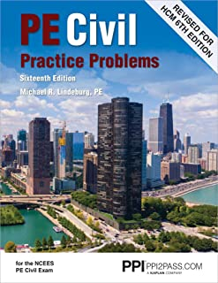Ppi Pe Civil Practice Problems, 16th Edition - Comprehensive Practice for the Ncees Pe Civil Exam