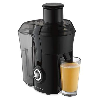 "Hamilton Beach Juicer Machine, Big Mouth 3"" Feed Chute, Centrifugal, Easy to Clean, BPA Free, 800W, (67601A), Black"