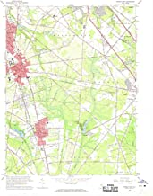 YellowMaps Pitman East NJ topo map, 1:24000 Scale, 7.5 X 7.5 Minute, Historical, 1966, Updated 1968, 26.9 x 22 in