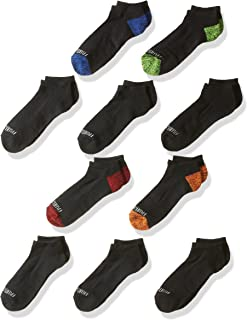 Fruit of the Loom Boys' Little Half Cushion No Show Socks (10 Pack)