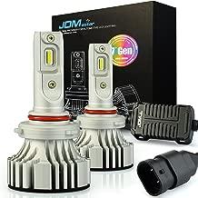 JDM ASTAR No Dark Spot Design 8000 Lumens Extremely Bright 9005 LED Headlight Bulbs Conversion Kit, Xenon White-Adjustable Light Angel Not Blinding On Coming Driver