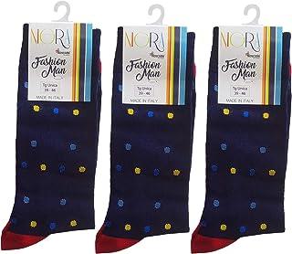 Calcetines cortos para hombre, 3 pares 806 - Calcetín corto de hilo de Escocia de algodón Makò