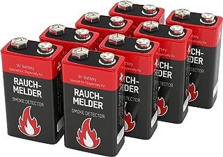 8 ANSMANN Alkaline longlife Rauchmelder 9V Block Batterien   Premium Qualität für höhere Leistung, 9V Batterie ideal für Feuermelder, Bewegungsmelder, Alarmanlagen & Kohlenmonoxid Warnmelder