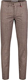 MAC Jeans Men's Lennox Trouser, 272k Dark Taupe Check, W34